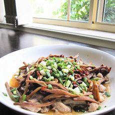 黄花菜蒸鳄鱼肉的做法