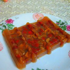 红糖红枣猪皮冻