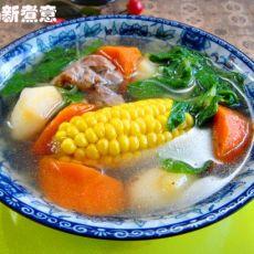 田园鲜蔬猪骨汤的做法