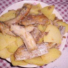 家常菜---刀鱼炖土豆