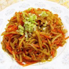 咖喱土豆胡萝卜丝的做法