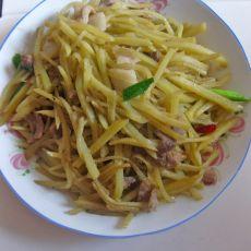 清炒瘦肉土豆丝的做法