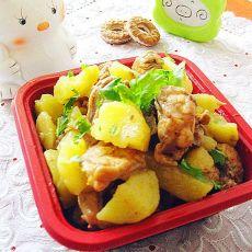 土豆炖鸡架的做法