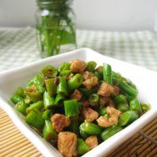 豆豉肉碎炒豇豆的做法