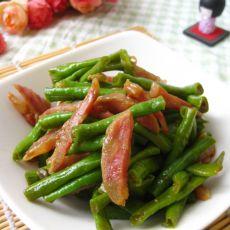 腊肠炒豇豆的做法
