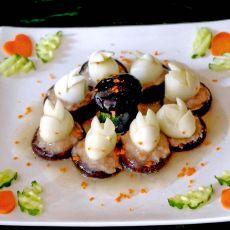 鹌鹑蛋香菇嵌肉――《玉兔呈祥》