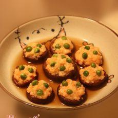 虾酿香菇盏