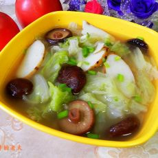 山药香菇白菜汤的做法
