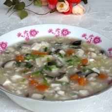 香菇肉糜豆腐羹的做法