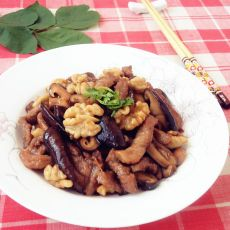 香菇核桃肉片