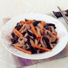 猪肉炒香菇的做法