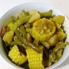 土豆玉米炖豆角