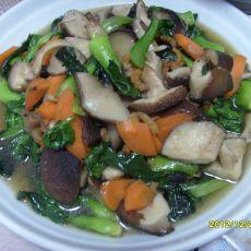 香菇炒小青菜的做法