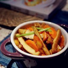 胡萝卜炒豆干的做法