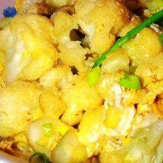 鸡蛋菜花的做法