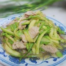西葫芦炒肉丝
