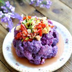凉拌紫菜花