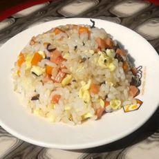 蛋炒粗粮饭的做法