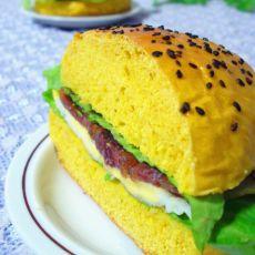 南瓜牛肉汉堡