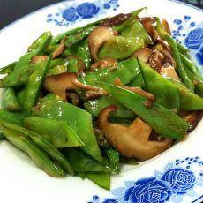 荷兰豆炒香菇