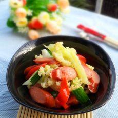 脆皮肠烧菜花