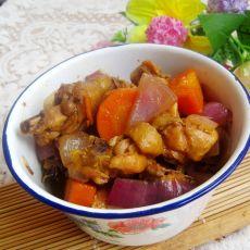 胡萝卜洋葱焖鸡块的做法
