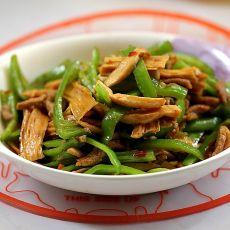 腐竹青椒鲍杏菇的做法