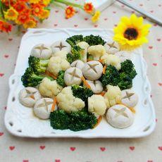 奶香口蘑烧花菜