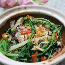 干锅鱼头的做法