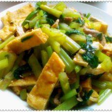 芹菜豆腐干的做法