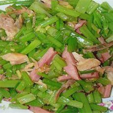 芹菜炒火腿肉丝