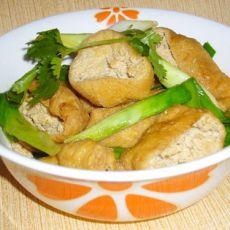 青蒜油豆腐