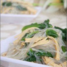 菠菜粉丝拌腐竹