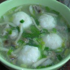 墨鱼丸真姬菇汤