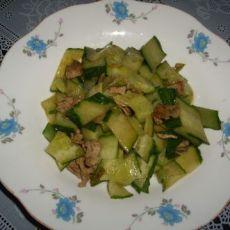肉炒黄瓜片