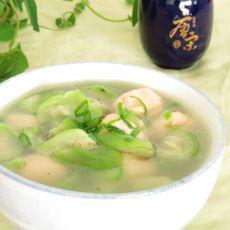 丝瓜虾丸汤的做法