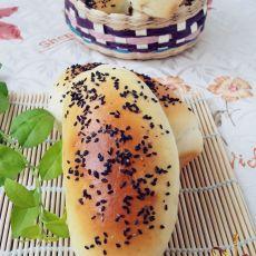 黑芝麻牛奶面包