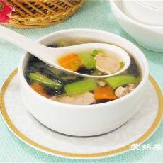 紫菜丝瓜瘦肉汤