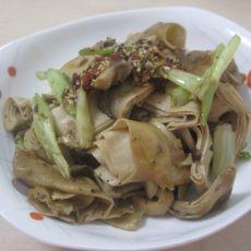 葱炒五香干豆腐