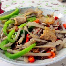 五花肉青椒炒藕丝