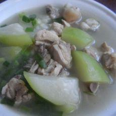 (原创首发)葫芦瓜炖鸡汤