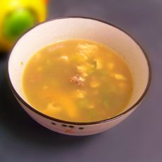丝瓜肉碎鸡蛋汤