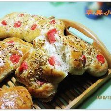 火腿香葱面包