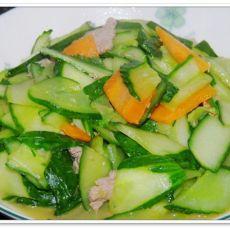 肉片黄瓜的做法
