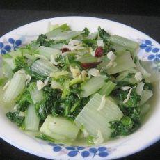 虾米炒青菜的做法