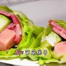 培根火腿生菜卷