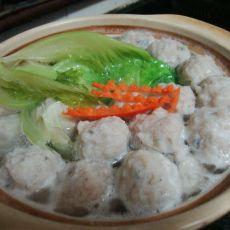 青菜鱼丸汤的做法