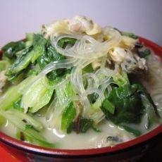 蛤蜊青菜汤的做法