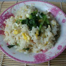 青菜鸡蛋炒饭