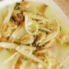 东瓜虾干扁尖汤